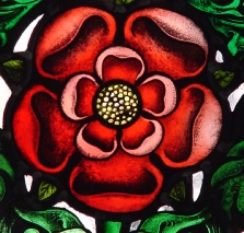 Tudor Rose stained glass painting