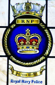 RNP Royal Navy Police window crest