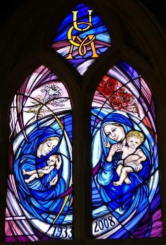 union of Catholic mothers stained glass window UCM