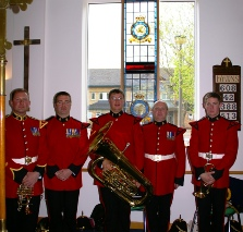 RAF Police band window dedication